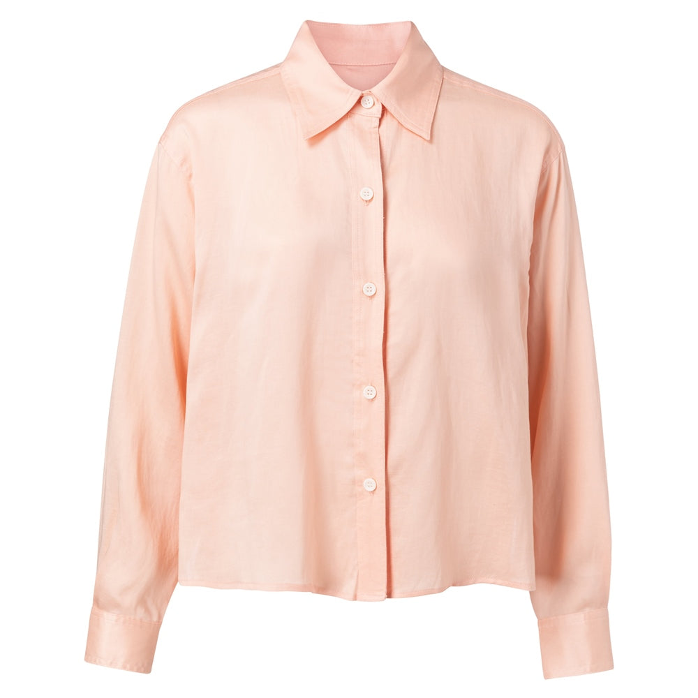 Peach Cropped Boxy Shirt