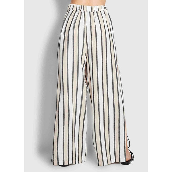 Striped Linen Blend Pants