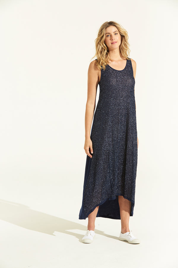 Diamond Maxi Dress - Navy
