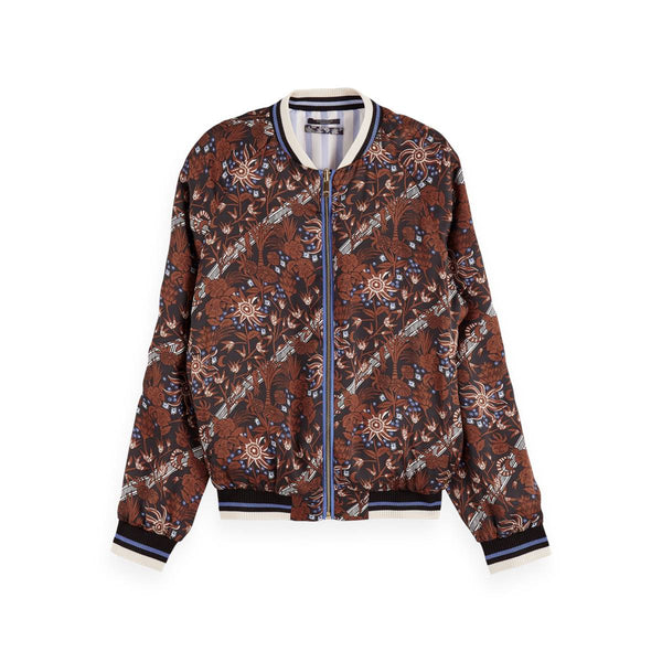 Printed Reversible Bomber Jacket
