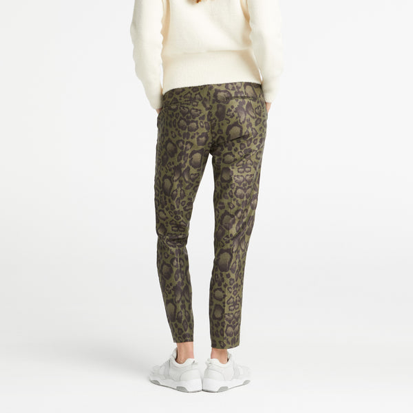 Printed Leopard Stretch Pantalon