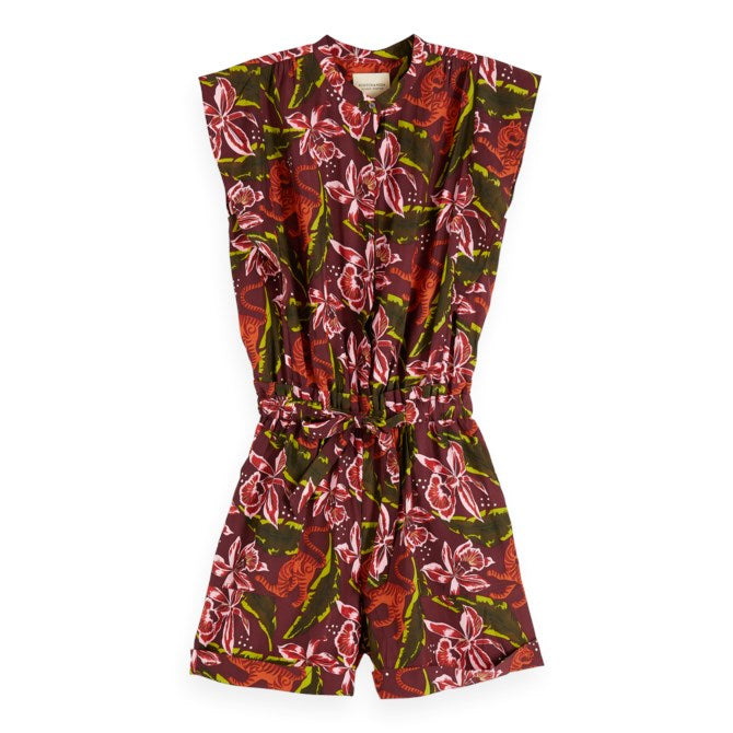 Floral All-In-One Jumpsuit
