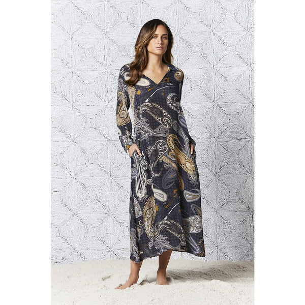 Carmel Long Iris Dress