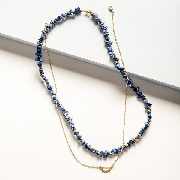 Navy Sodalite Necklace