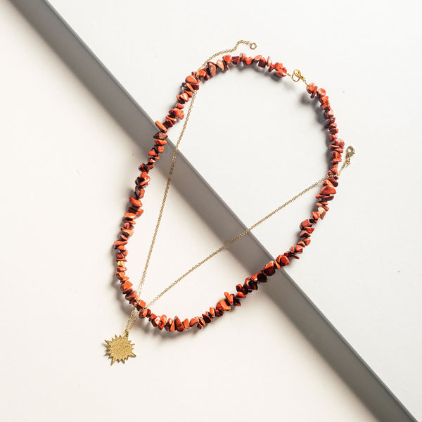 Red Jasper Stone Necklace