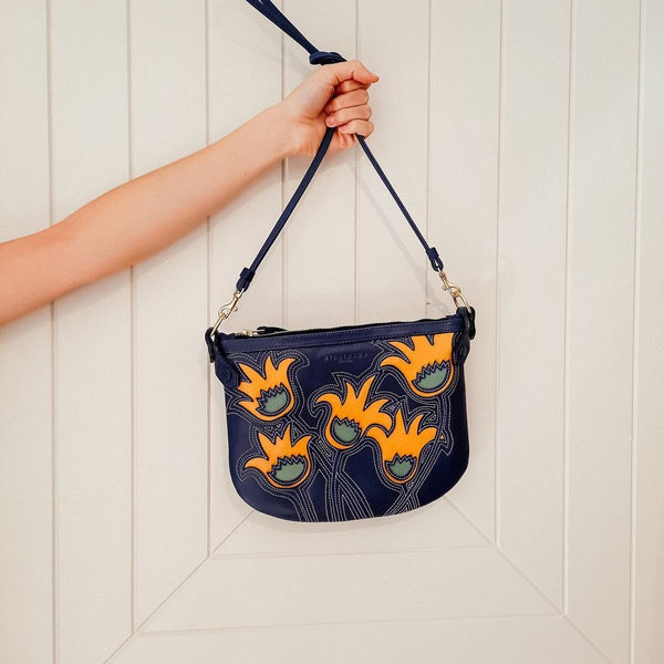 Navy Floral Cha Ching