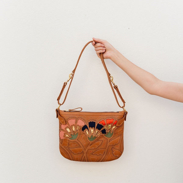 Tan Nairobi Sling Floral Cut Out