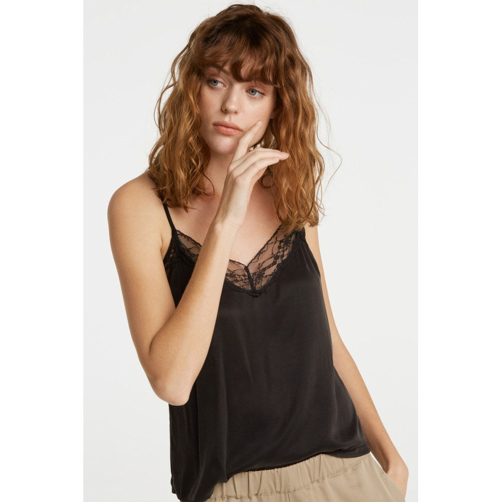 Black Camisole with Lace