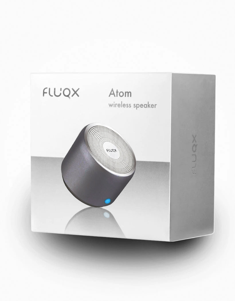 Fluqx Atom Speaker Packaging