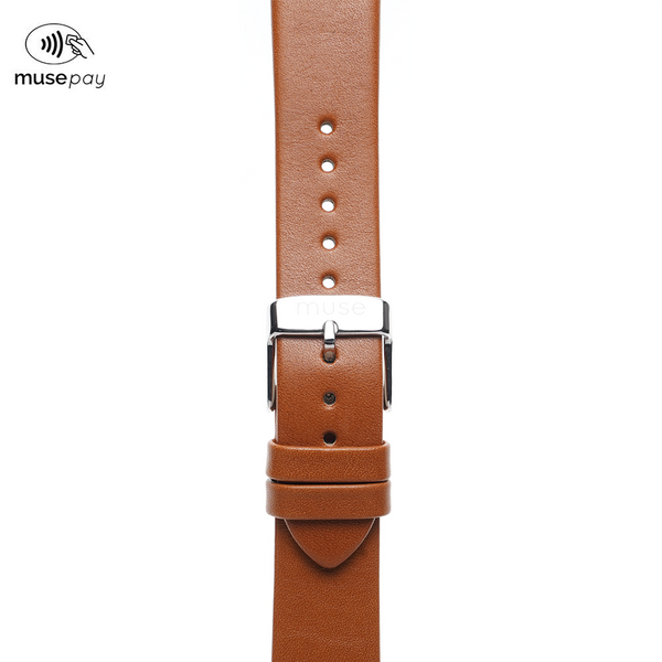 Lavata Rust Tan Brown Leather NFC Strap