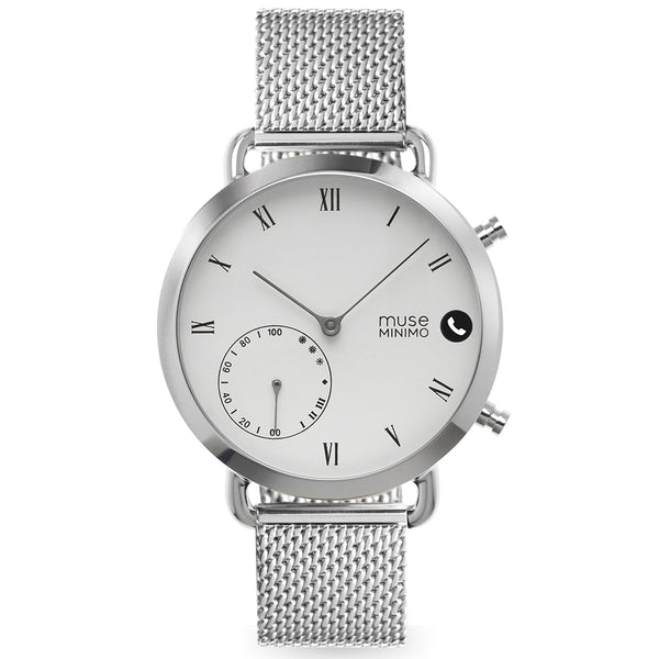 Muse Minimo White 18mm Milanese Edition
