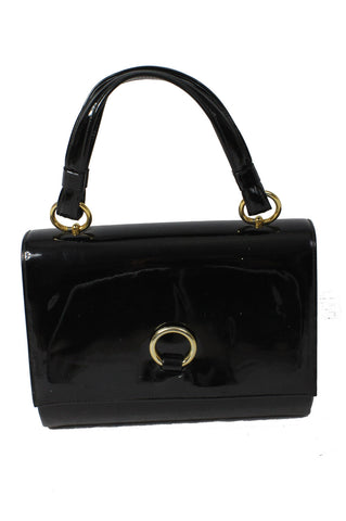Black Patent Leather Purse