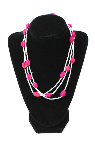 White and Pink Summer Necklace