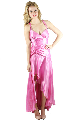 Iridescent Pink Prom Gown