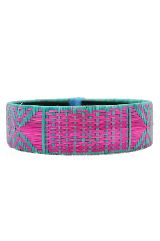 Colombian Bracelet, Pink & Turquoise