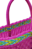Oaxacan Shopping Tote, Bright Pink