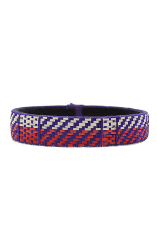 Colombian Bracelet, Purple & Red