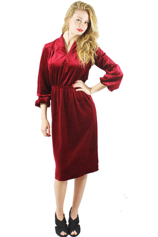 Heart Stopping Velvet Red Dress