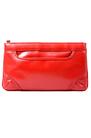 Vintage Cherry Red Clutch