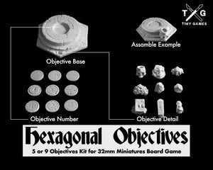 Hexagonal Objectives (9 Objectives Kit)