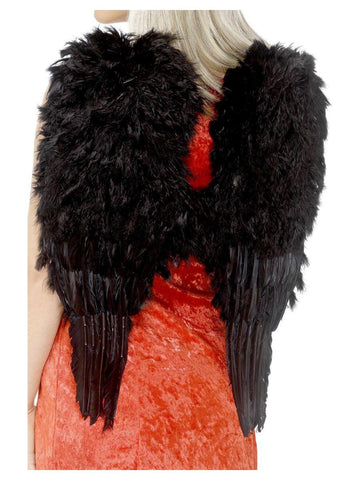 Feather Angel Wings Black Large