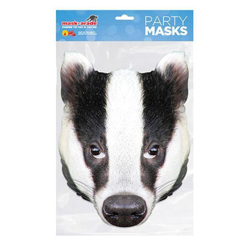 Badger Animal Card Mask