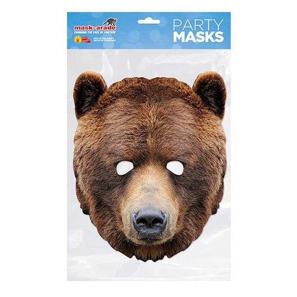 Bear Animal Card Masks