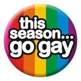 Tis Season Go Gay Badge