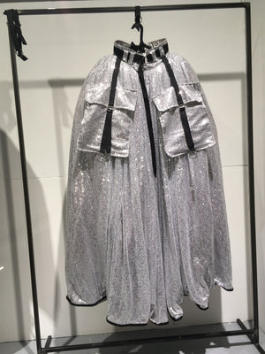 2.0.7_19 SILVER SEQUIN SKIRT