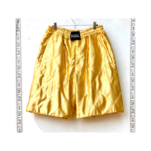 H.O.L 2.0.8_14 GOLDEN QUILT SHORTS