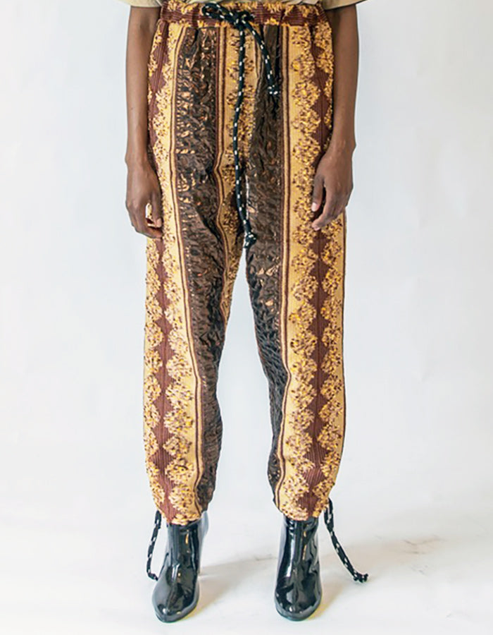 209_15 BO$$ BROWN BLING PANT