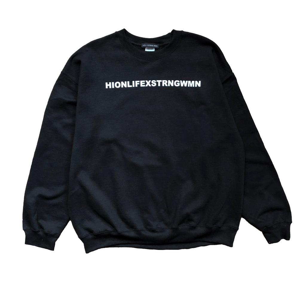 HOL X STRNG WMN BLACK SWEAT