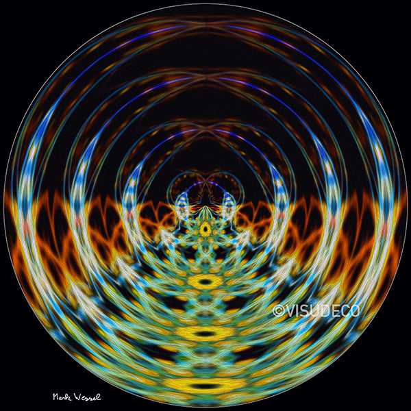 Abstract image titled - Crystal Ball - by Mark Wessel.