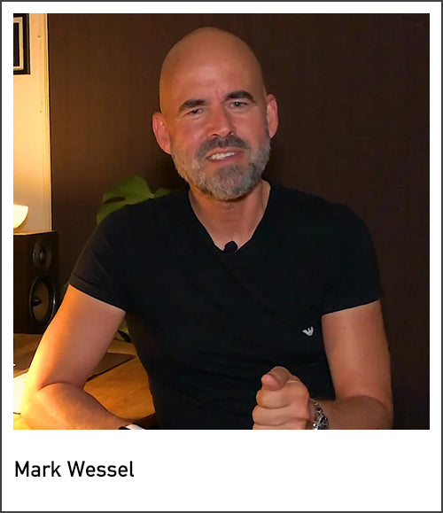 Screenshot of photographer Mark Wessel from his video blogs at Visudeco.com