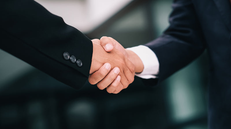 Visudeco handshake image. Money back guarantee.