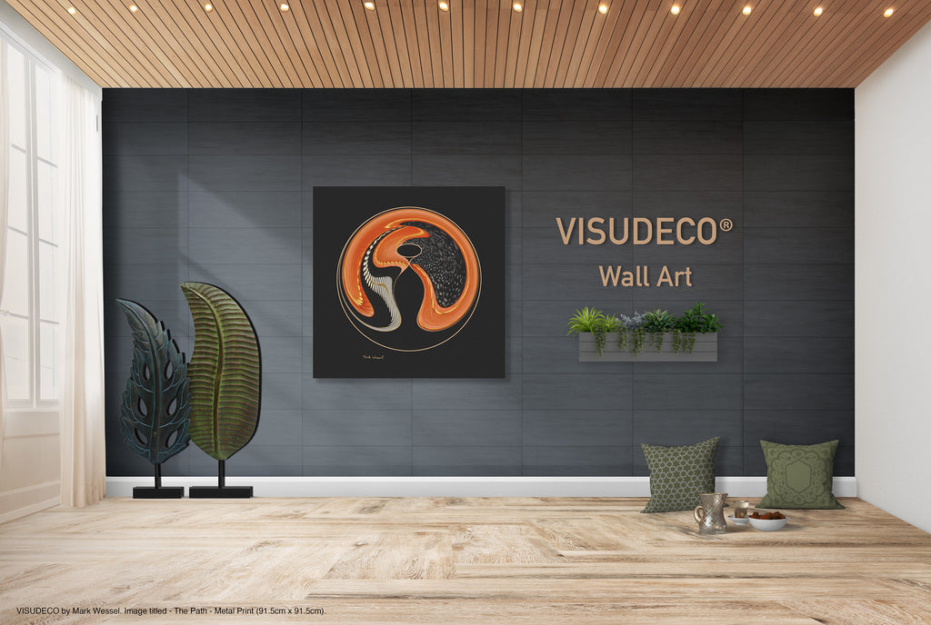 Visudeco Wall Art - Welcome image. Metal print titled - The Path - on wall.