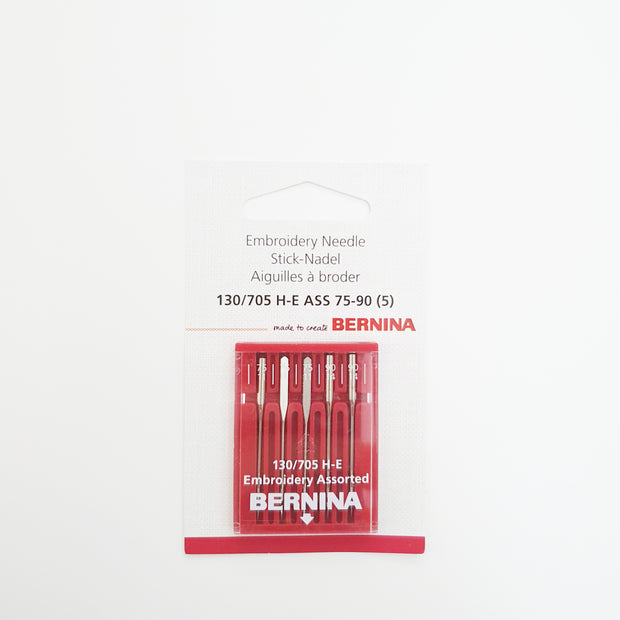 BERNINA Embroidery Needle Assorted H-E 75-90 - BERNINA Singapore