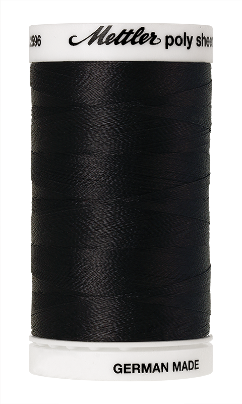 Mettler Poly Sheen Black Thread