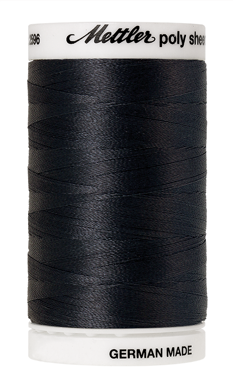 Mettler Poly Sheen Charcoal Thread