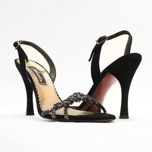 Sling back twisted strap sandal - Claudio Milano Couture