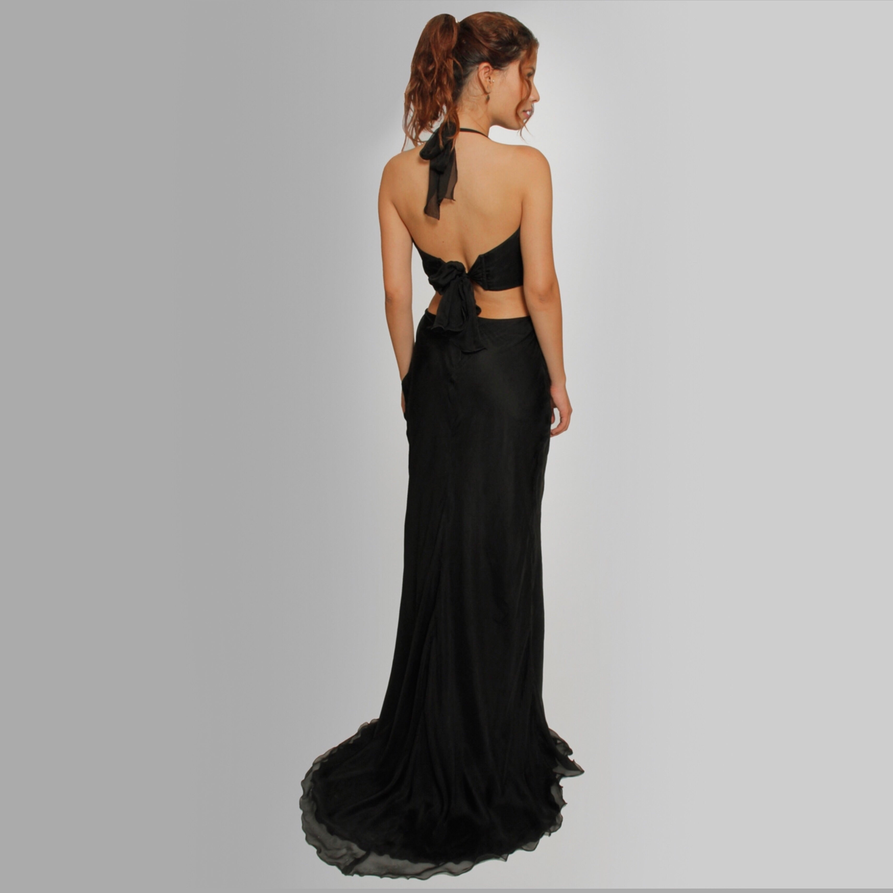 Cut-off Crystal Ring gown - Claudio Milano Couture