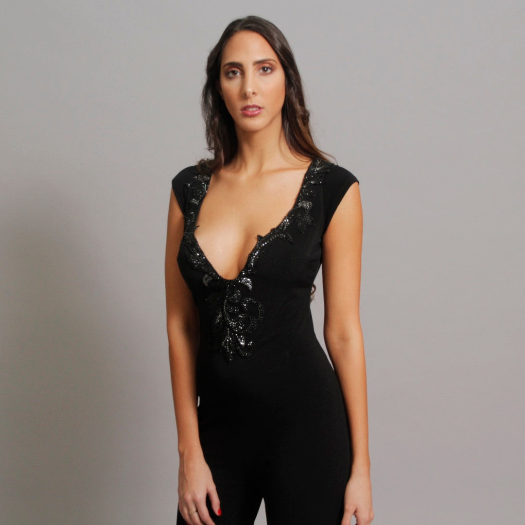 The Crystal Jumpsuit - Claudio Milano couture