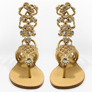 The Roma Sandals Gold - Claudio Milano couture