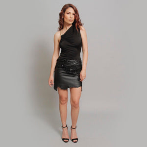 The Leather Skirt - Claudio Milano couture