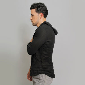 The Linen Hoodie Shirt - Claudio Milano Couture
