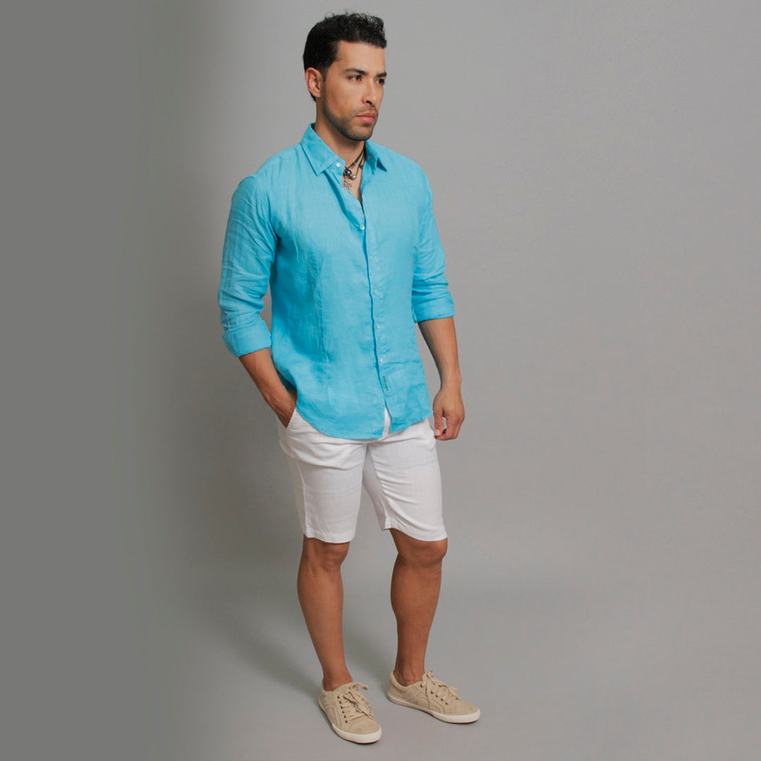 The Linen Shirt Fitted - Claudio Milano Couture