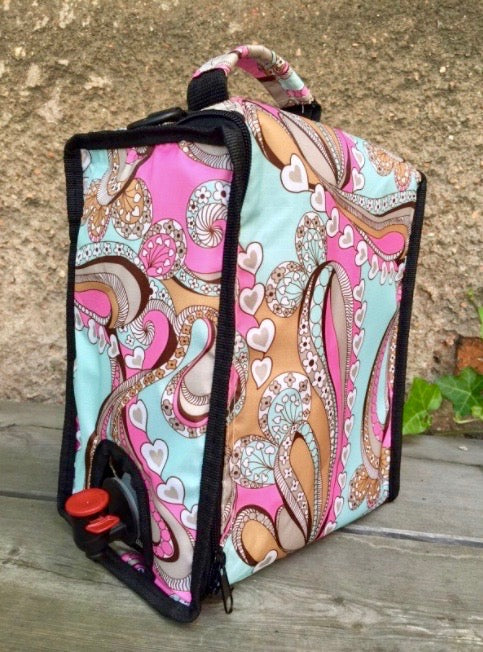 Box wine cooler bag Paisley