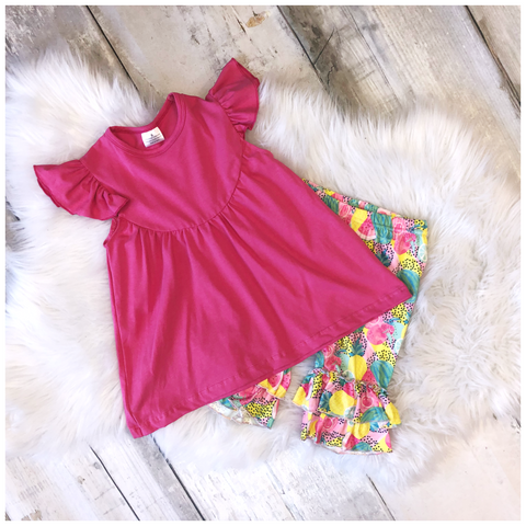 Tropical Fruit Capri Set