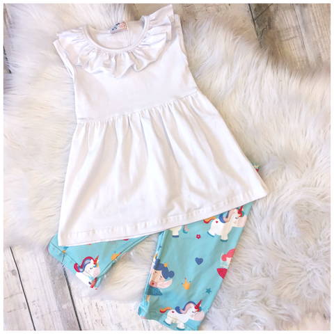 Unicorn Fairy Capri Set
