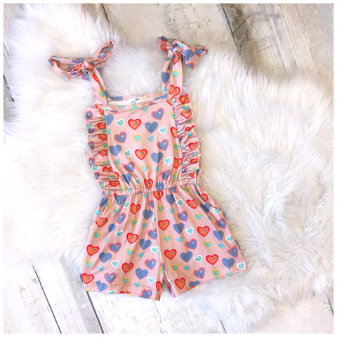 Colorful Heart Romper